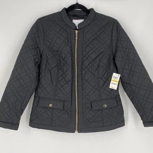 Charter Club Quilted Jacket in Deep Black